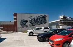 From New York (Jocey K) Tags: newzealand christchurch sky streetart art cars architecture buildings words artwork mural carpark rebuilds dcypher