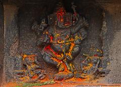ADDING COLOURS TO FAITH (GOPAN G. NAIR [ GOPS Creativ ]) Tags: colour rock stone architecture photography colorful carving ganesh colourful karnataka belur hoysala gops gopan gopsorg gopangnair gopsphotography
