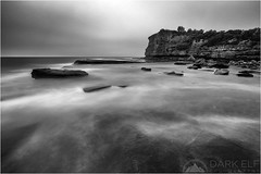 The Skillion (Darkelf Photography) Tags: longexposure morning blackandwhite bw seascape beach clouds canon landscape photography dawn mono coast rocks tripod australia filter shore nsw newsouthwales maciek terrigal 2015 1635mm darkelf skillion gornisiewicz 5diii