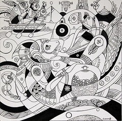 Sumerian Astronaut (chamarelli) Tags: drawing sumerian chamarelli fernandochamarelli sumerianart