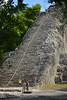 At the foot of the Ixmoja pyramid at Cobá, Nohoch Mul (Thomas Roland) Tags: ocean city travel sea summer america forest mexico mesoamerica coast site ruins pyramid maya sommer group central ruin coba tulum tourist yucatán mayan jungle ruinas grupo caribbean amerika wald archeology zona roo mul archeological hav quintana skov kyst cobá arqueologica nohoch mellemamerika ixmoja