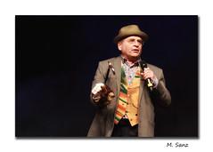 Sylvester McCoy (and Sebastian) (megacampiona) Tags: sebastian puppet hedgehog drwho sylvestermccoy radagast hobbitcon megacampiona