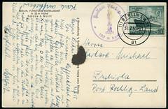 Archiv E425 Funkturm-Restaurant, Berlin am 31. Juli 1955 (Hans-Michael Tappen) Tags: berlin 1955 stamps whiteboard ephemera funkturm stempel postkarte briefmarke poststempel funkturmrestaurant archivhansmichaeltappen