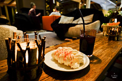 Meringue and drink (A. Wee) Tags: france dessert restaurant hotel pashmina valthorens meringue     lerefuge lebasecamp