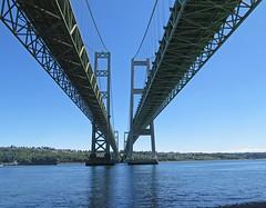 Under Narrows Bridge (Engage Northwest) Tags: bridge waterfront pugetsound tacoma gigharbor thenarrows narrowsbridge narrowspark penmetparks