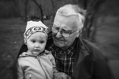 Grandpa (Niks Freimanis) Tags: portrait blackandwhite white black monochrome lensbaby canon countryside kid child sweet country grandfather baltic grandpa latvia 35 composer opis portrets latvija 70d lauki vectevs