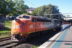 S302 at Canterbury. (Free Rail Photography.) Tags: railroad station train diesel metro sydney platform railway australia s canterbury bulldog class goods line southern nsw locomotive ssr freight vr streamliner vline bullnose shorthaul