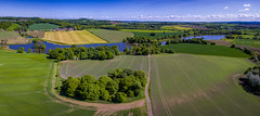A view I've never seen before. (Darren Flinders *** Thank you for 1 Million Views ) Tags: trees summer england panorama countryside yorkshire panoramic aerial wentworth fields crops aerialphotography rotherham southyorkshire drone djiphantom3