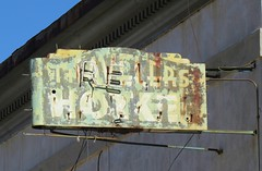 Travelers Hotel Sign (Larry Myhre) Tags: arizona sign vintage hotel neon miami faded weathered travelers desertghosts
