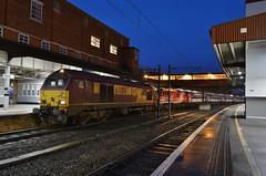 67008 1F05, York (Alex Lomax) Tags: york trains virgin skip electra eastcoast mkiv vtec class67 67008 91109 1f05
