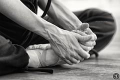 No pain no gain (FunkyPorcupine) Tags: blackandwhite ballet dark dance danse fitness barre pointes classicaldanse canon5dii danceclassique