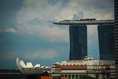 Ship in the sky (elenaleong) Tags: hotel bay singapore cityscape landmarks modernarchitecture mbs lotusflower singaporeskyline thefullertonhotel marinabaysandsintegratedresort artsciencemuseum