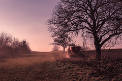 My only chance ... (Netsrak) Tags: brown mist tractor tree nature field fog rural de landscape deutschland haze nebel outdoor natur braun landschaft baum acker rheinlandpfalz dunst trecker spay