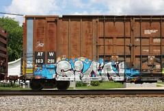 Sion (quiet-silence) Tags: railroad art train graffiti railcar boxcar graff freight sion fr8 atw atw163291