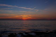 130822_Jullouville_232 (rainerspath) Tags: sunset sea mer france frankreich meer sonnenuntergang bassenormandie jullouville kanalkste