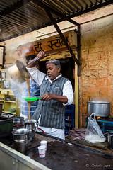 Straining the Coffee 4999 (Ursula in Aus - Away) Tags: india jaisalmer chaiwallah chai
