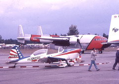 1950 Experimental Chipmunk N1114V and 1976 Fairchild C-119C (D70) Tags: canada slr art pen de flying experimental bc action aircraft august airshow international chipmunk f boxcar 1970 fairchild 1950 8th abbotsford certification scholl pennzoil penf havilland c119c dhc1b2 n1114v n13742