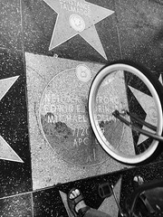Moon on the Walk of Fame (Tyler Merbler) Tags: california usa moon bicycle eclipse kubrick ii hollywood walkoffame apollo neilarmstrong