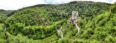 (Paul B0udreau) Tags: burgeltz castle germany green forest rock river elzbach elzbachriver hugin panoramic pano