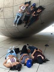 Girls in the bean (dirklie65) Tags: girls usa chicago reflection illinois bean cloudgate spiegelung