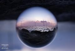 Sun set blue hour (annelienvdheide) Tags: sunset pentax bluehour crystalball glassball glassglobe glazenbol blauweuur pentaxk5