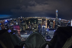 Top of the Rock (Brandon Godfrey) Tags: newyorkcity nyc newyork topoftherock rockafellercenter 30rock manhattan midtown midtownmanhattan fisheye centralpark night urban usa unitedstatesofamerica unitedstates harlem queens