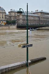 Crue de la Seine 2016 - Paris, Voies sur berges rive droite (EclairagePublic.eu) Tags: paris seine flooding eau flood lumire berge quai inondation lampadaire naturelle catastrophe crue luminaire candlabre