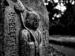 Monk with Lotus flower (martina.stang) Tags: sculpture japanesegarden lotus monk meditation lowkey introvert