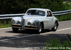 DSC_6560 - Alfa 6C Touring - 1947 - Valsenise Marino - Club Italia (pietroz) Tags: silver photo foto photos flag historic fotos pietro storico zoccola 21 storiche vernasca pietroz