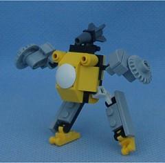 Bumblebee Brown (Mantis.King) Tags: lego scifi futuristic mecha wargames mech moc microscale legomecha mechaton mfz turdbot mf0 mobileframezero legogaming