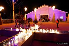 20160618-03-Fire cross at Dark MOFO 2016 (Roger T Wong) Tags: lighting night fire lights cross australia tasmania hobart 2016 pw1 sony1635 princeswharf1 rogertwong darkmofo sel1635z sonya7ii sonyilce7m2 sonyalpha7ii sonyfe1635mmf4zaosscarlzeissvariotessart