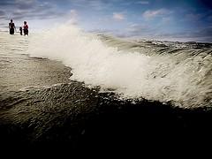 Wave {163/366} (therealjoeo) Tags: summer sky beach water texas wave padreisland