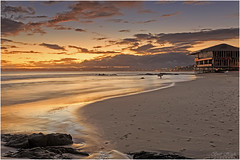 All Alone (Brett Huch Photography) Tags: sunset sea sky seascape beach water surf waves seascapes surfer australia surfing qld queensland aussie coolangatta goldcoast snapperrocks wavesbreaking