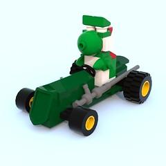 Yoshi Kart 2 ([ dA ]) Tags: lego mario kart mariokart yoshi ldd bluerender