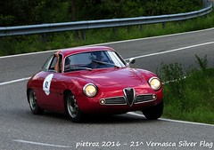 DSC_6598 - Alfa Romeo Giulietta SZ - 1962 - Faggioli Marco - Crame (pietroz) Tags: silver photo foto photos flag historic fotos pietro storico zoccola 21 storiche vernasca pietroz