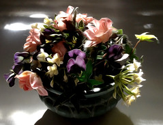 Posy_PB_5720 (Rikx) Tags: flowers photoshop explore adelaide southaustralia oilpaint iphone silkflowers modifiedimage oilpaintfilter pixelbender beautifuljustbeautiful pixelbenderoilpaint