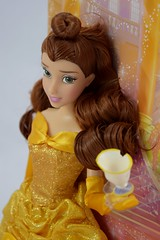 2016 Belle Classic 12'' Doll - US Disney Store Purchase - Deboxing - Cover Off - Midrange Right Front View (drj1828) Tags: disneystore doll 12inch classicprincessdollcollection 2016 purchase belle beautyandthebeast chip deboxing