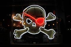 Pirate Bones (~ Blu ~) Tags: neon blu vancouverisland crossbones eyepatch