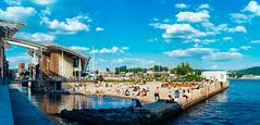 A nice day at Aker Brygge (norsez {Thx for 13 million views!}) Tags: panorama classic lens raw fuji fujifilm 40mm voightlander manualfocus stitched nokton cmos xp1 fastlens apsc xpro1 xtrans fujixpro1 fujifilmxpro1