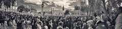 (Matt Brock ) Tags: panorama london monochrome westminster vintage politics crowd protest streetphotography eu housesofparliament demonstration parliamentsquare speech mobilephotography iphoneography marchforeurope