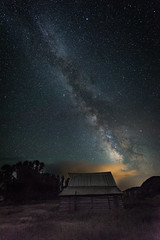 Moulton Barn & Milky Way (jetguy1) Tags: stars astronomy nightsky universe grandteton milkyway mormonrow moultonbarn