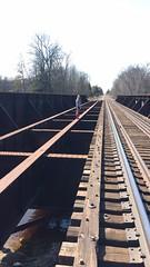 Adventure is out there (emilyformolo) Tags: trainbridge uppermichigan puremichigan adventureexplore