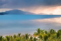 The Views Of Hamilton Island || CATSEYE BEACH || QUEENSLAND (rhyspope) Tags: ocean blue sea sky pope tree beach nature water rain clouds canon island paradise hamilton australia palm queensland 5d aussie rhys catseye mkii cld rhyspope