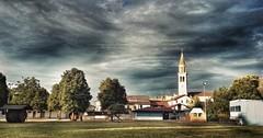 (Cristina Birri) Tags: palmanova campo tramonto sunset nuvole clouds temporale campanile paese friuli udine