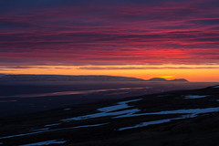 Head in the Clouds (Tim Gupta) Tags: iceland landscape sunset midnightsun fireinthesky