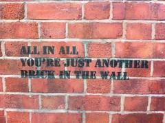 Unexpected Pink Floyd graffiti in Lee Green (gilesbooth) Tags: wall pinkfloyd london se13 se12 leegreen lewisham graffiti stencil