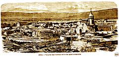 Ilustración Arica en el momento del maremoto