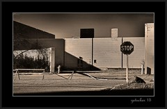 STOP The Mall Is Closed (the Gallopping Geezer 3.5 million + views....) Tags: building abandoned sign canon closed decay structure faded stop vacant worn signage decayed geezer corel 2015
