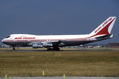 Air-India B747-237B VT-EFU LHR 12/08/1995 (jordi757) Tags: london heathrow airplanes boeing 747 lhr b747 airindia avions egll b747200 vtefu
