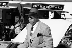 (aka Jon Spence) Tags: london hat sunglasses vintage rye southbank suit waterloo bagel panama saltbeef dapper londonist waynehemingway classiccarbootsale